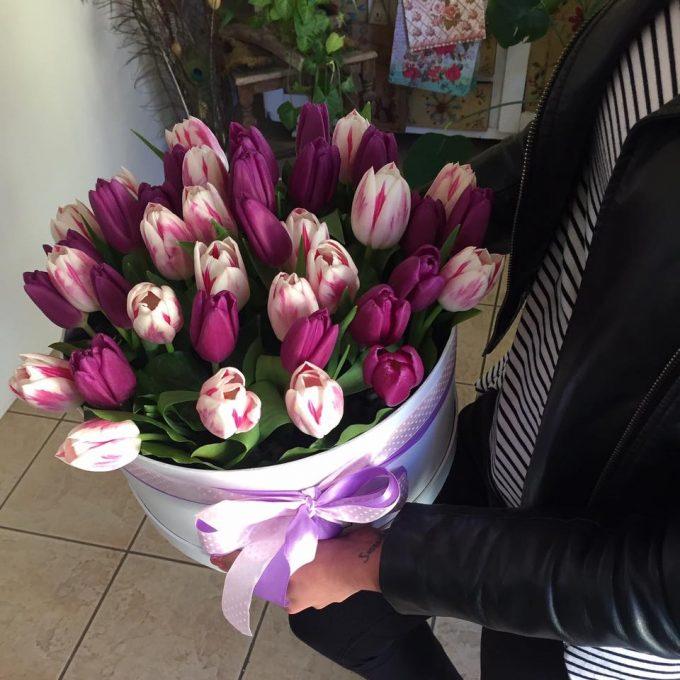 30 szálas tulipán doboz