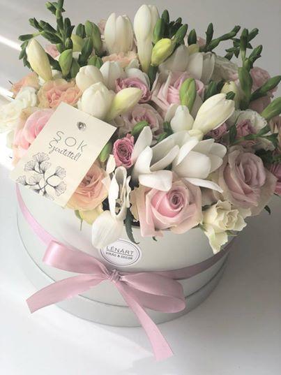 pasztell virágbox