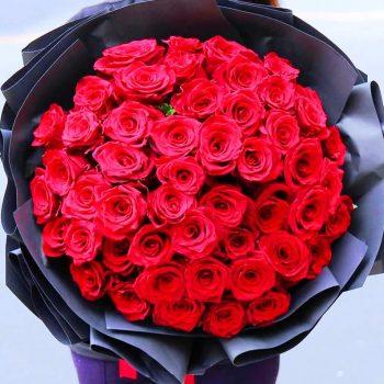 50 szál rózsa csokor