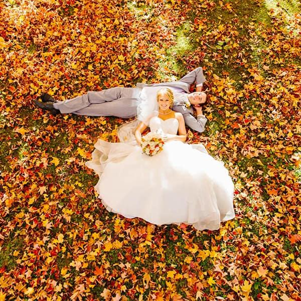Esküvői fotózás ősszel
