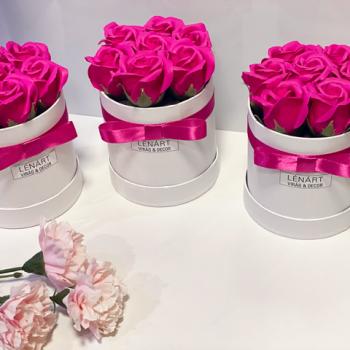 pink szappanrózsa