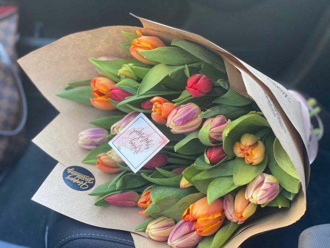 Szülinapi tulipán csokor