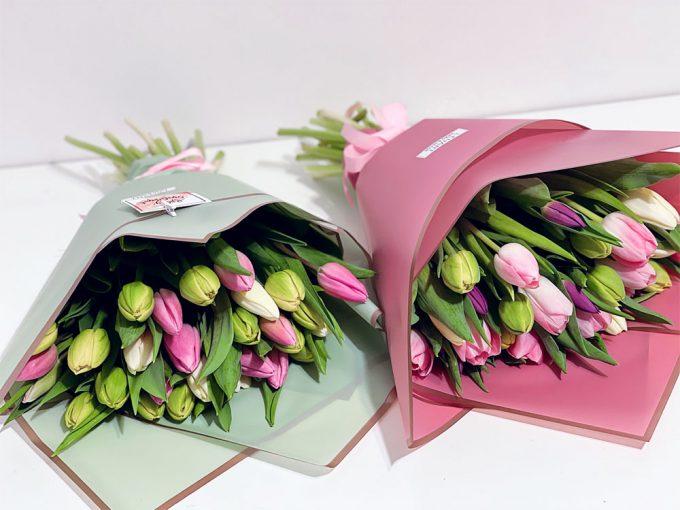 Vegyes tulipán csokrok
