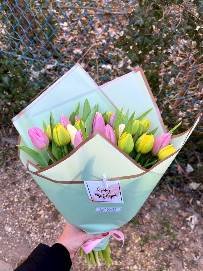 Tulipán csokor születésnap